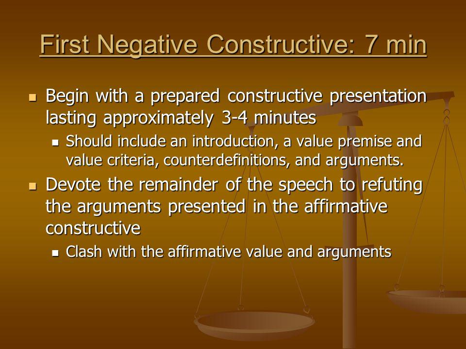 First Negative Constructive: 7 min