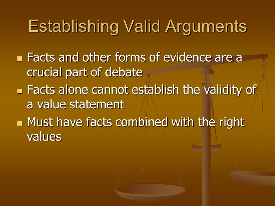 Establishing Valid Arguments