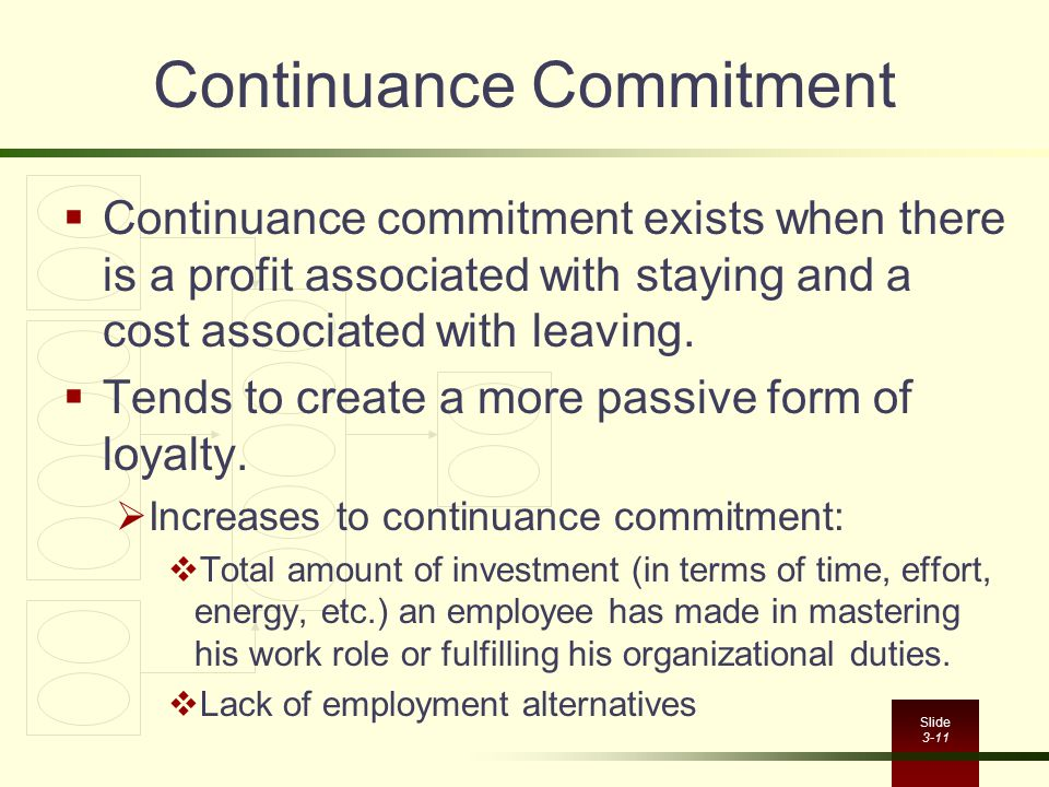 Continuance Commitment