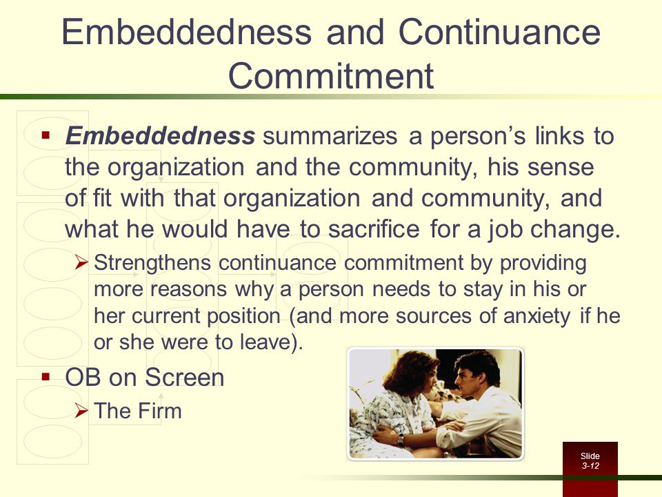 Embeddedness and Continuance Commitment