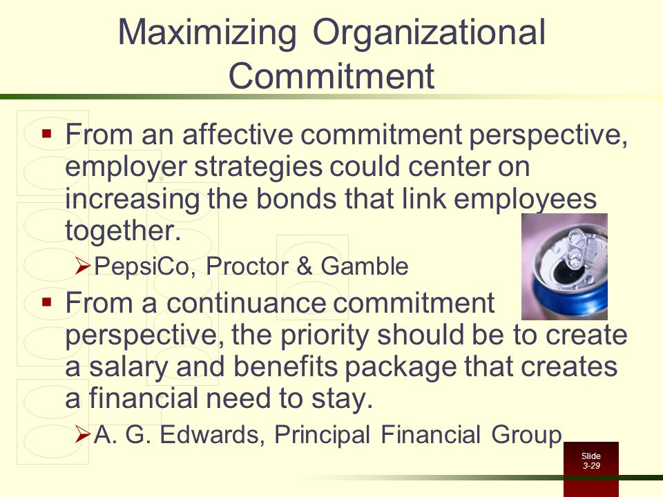 Maximizing Organizational Commitment