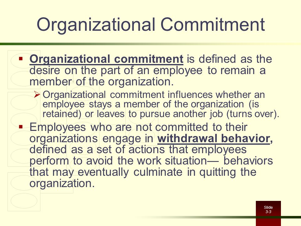 Organizational commitment