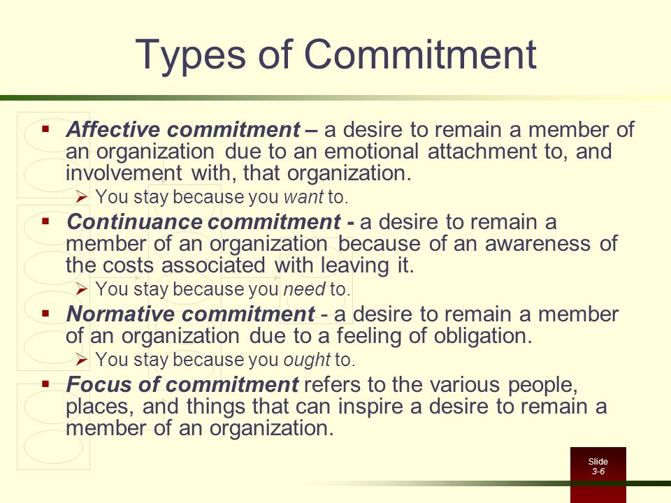 Types of Commitment