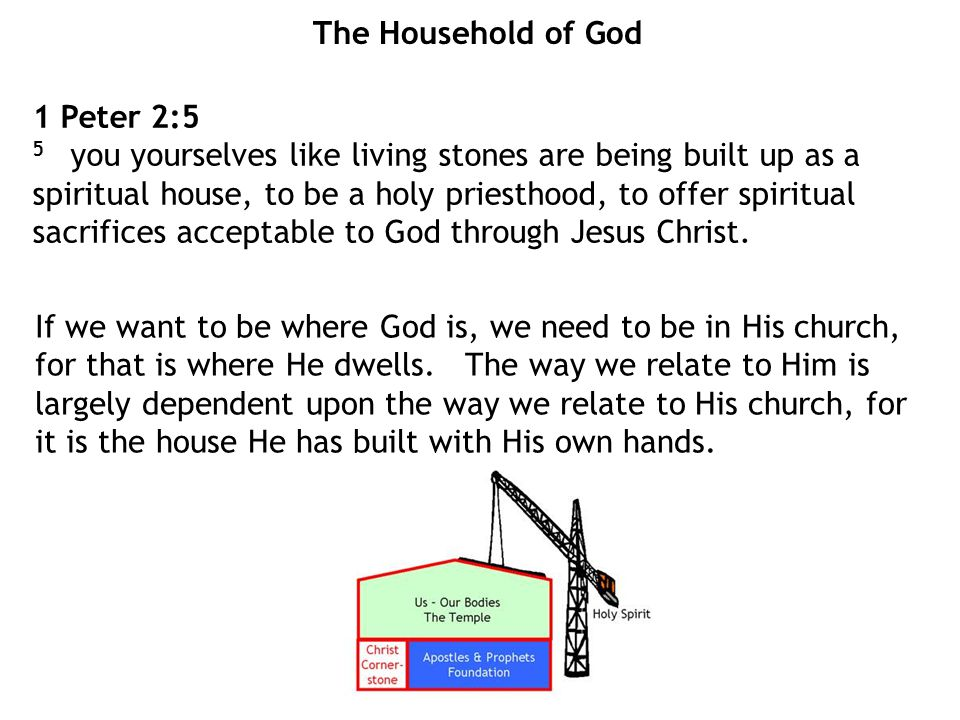 The Household of God 1 Peter 2:5.