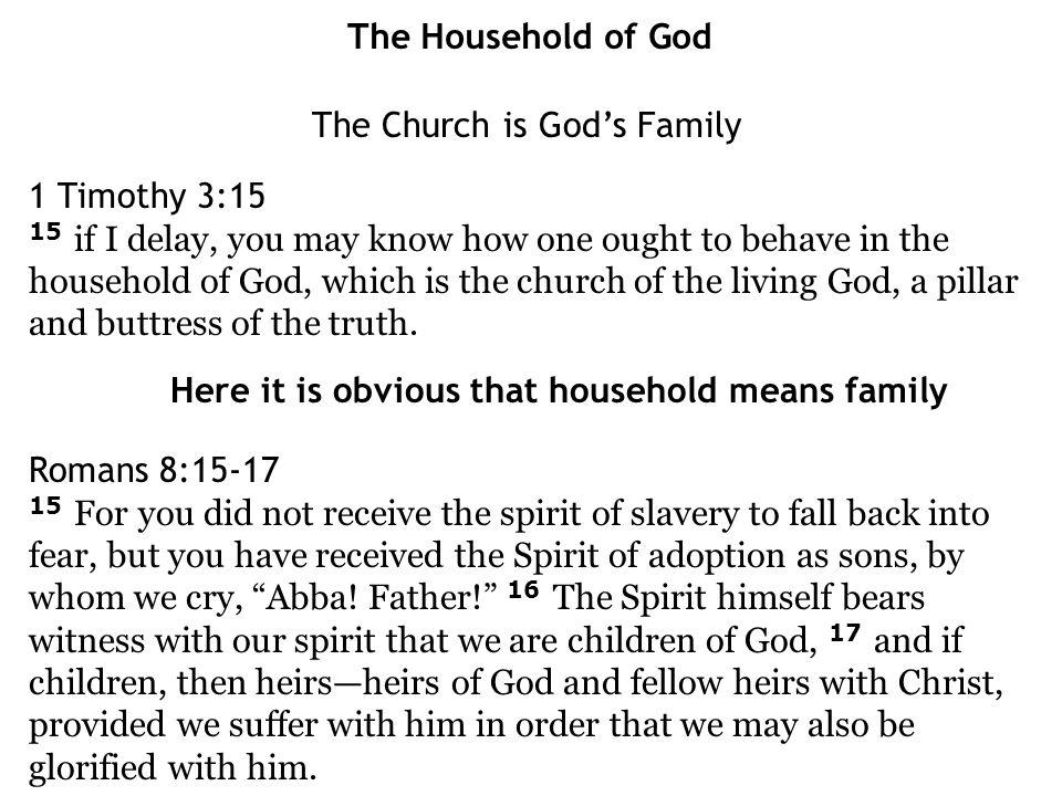 The Church is God's Family