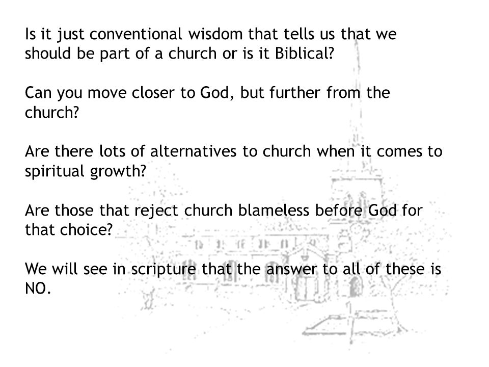 Can you move closer to God, but further from the church