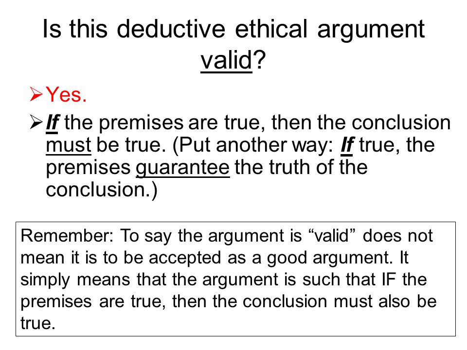 Is this deductive ethical argument valid