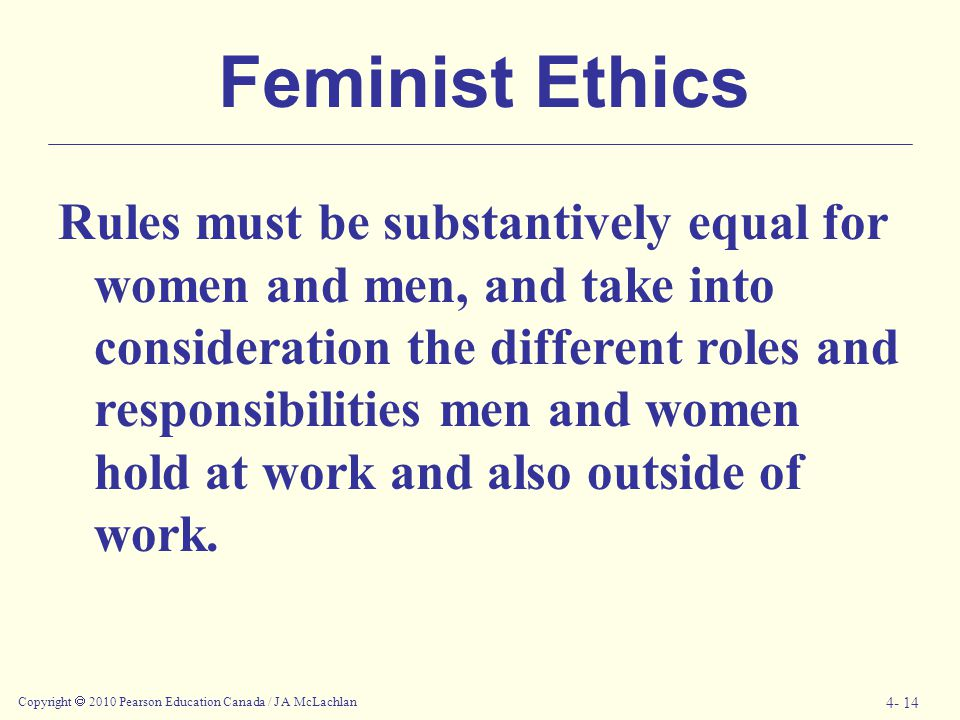 Feminist Ethics