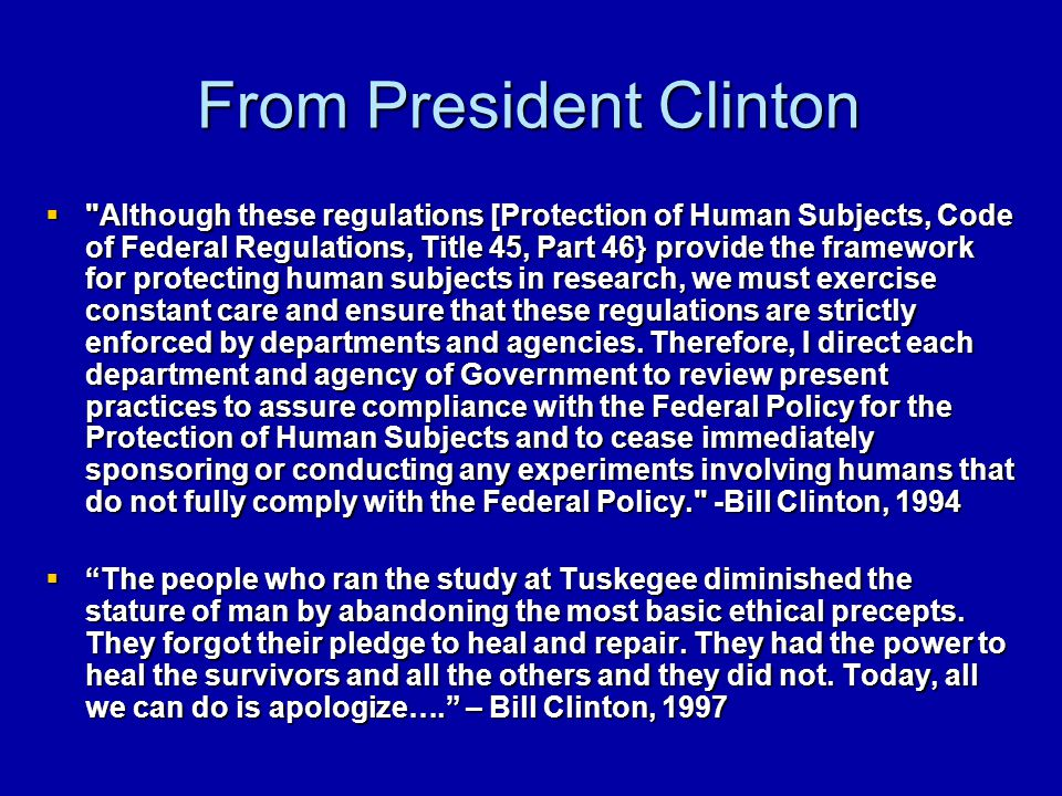 From President Clinton