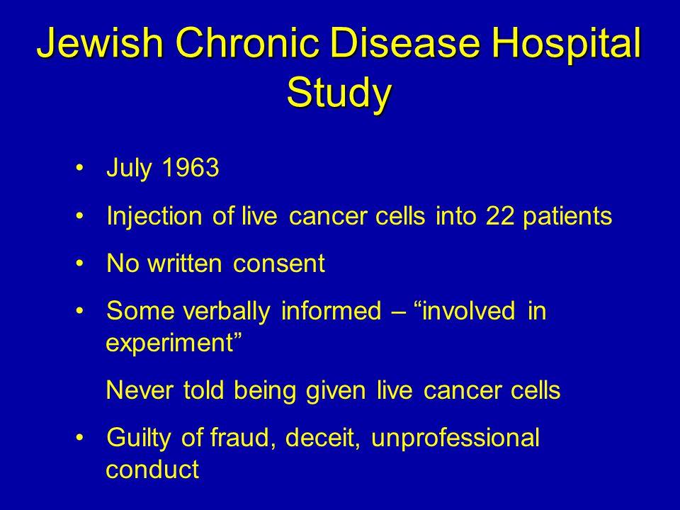 Jewish Chronic Disease Hospital Study