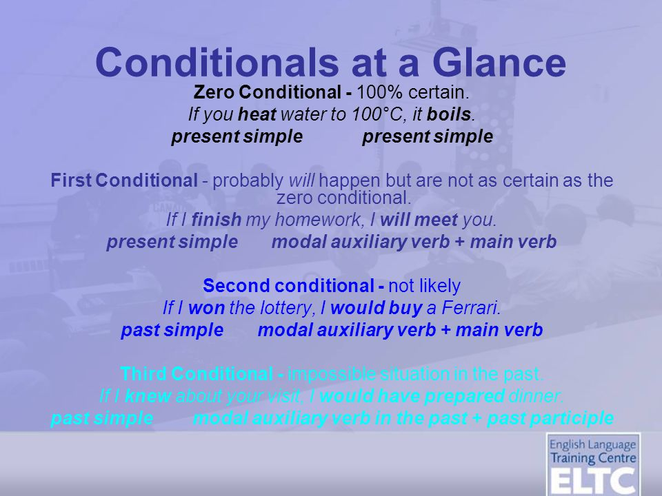 Conditionals at a Glance