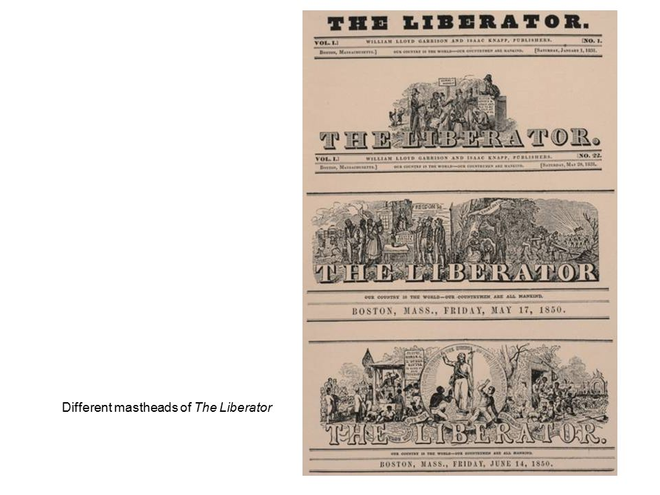 Different mastheads of The Liberator