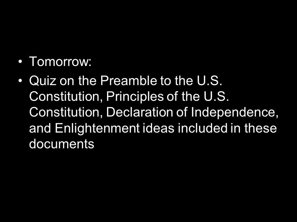Tomorrow: