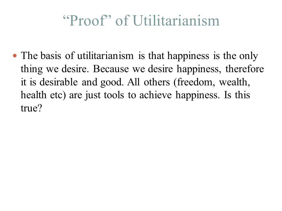 Proof of Utilitarianism