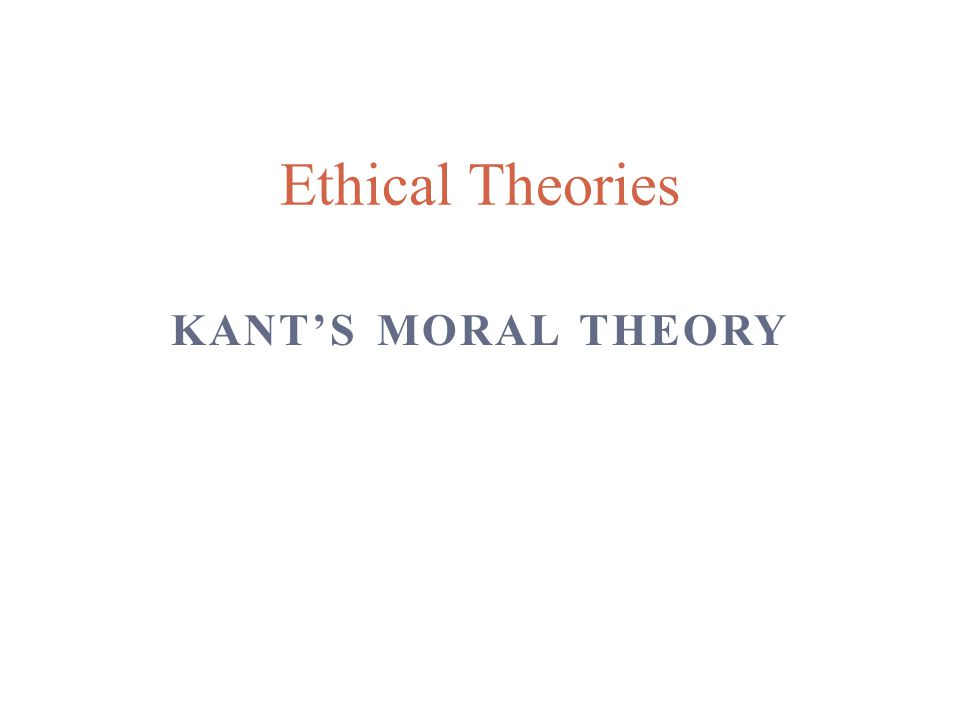 Kants moral theory