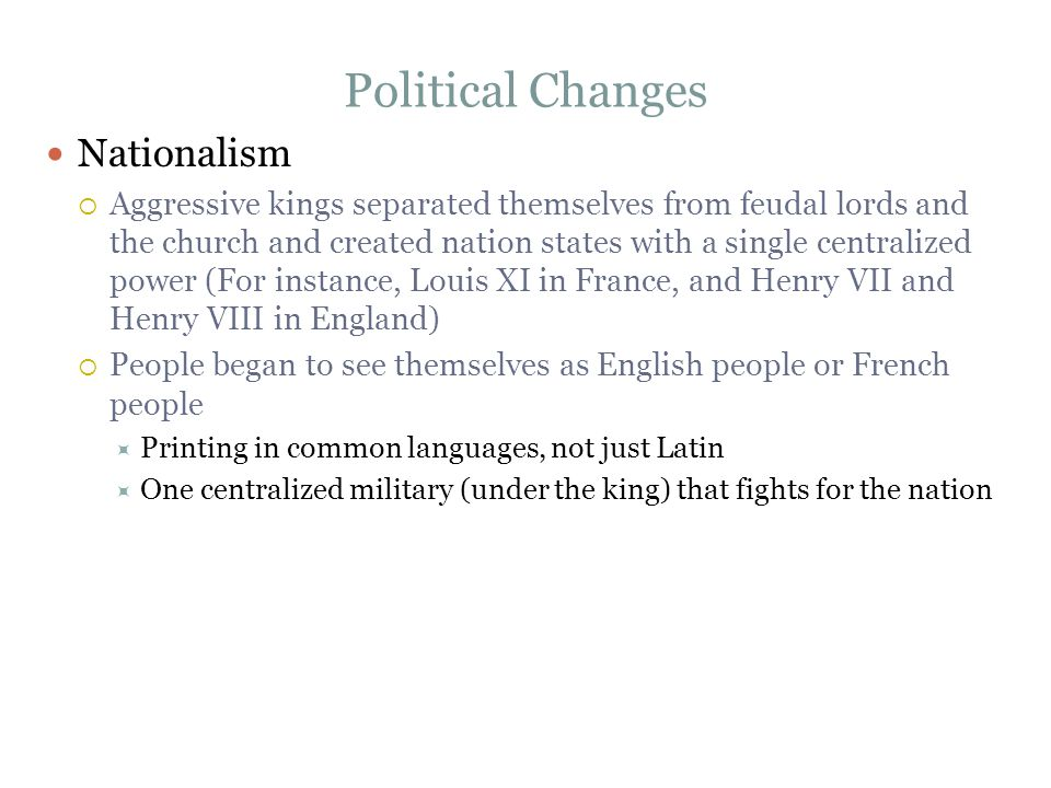 Political Changes Nationalism