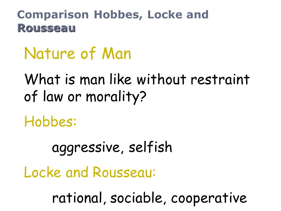 Nature of Man What is man like without restraint of law or morality