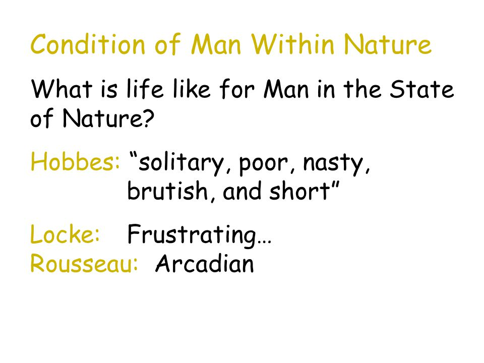 Condition of Man Within Nature