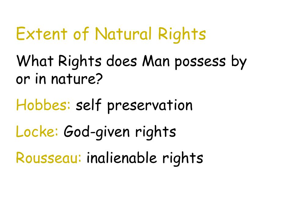 Extent of Natural Rights