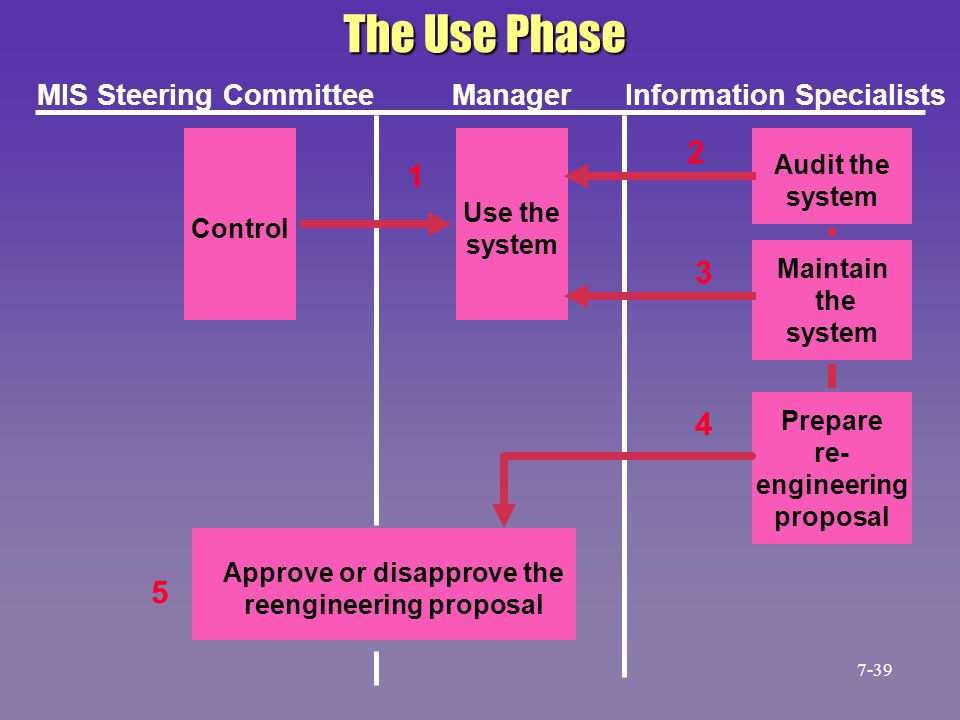 The Use Phase 2 1 3 4 5 MIS Steering Committee Manager