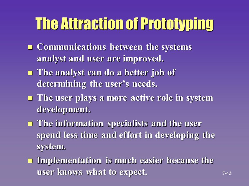 The Attraction of Prototyping