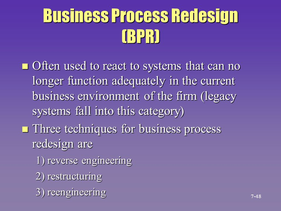 Business Process Redesign (BPR)