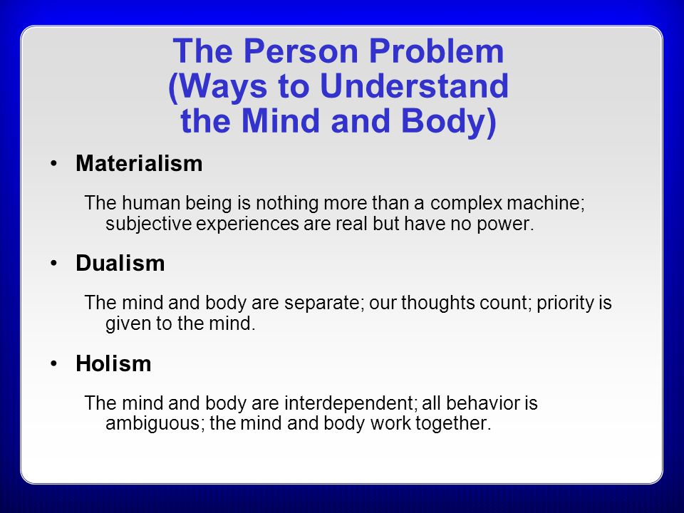 The Person Problem (Ways to Understand the Mind and Body)