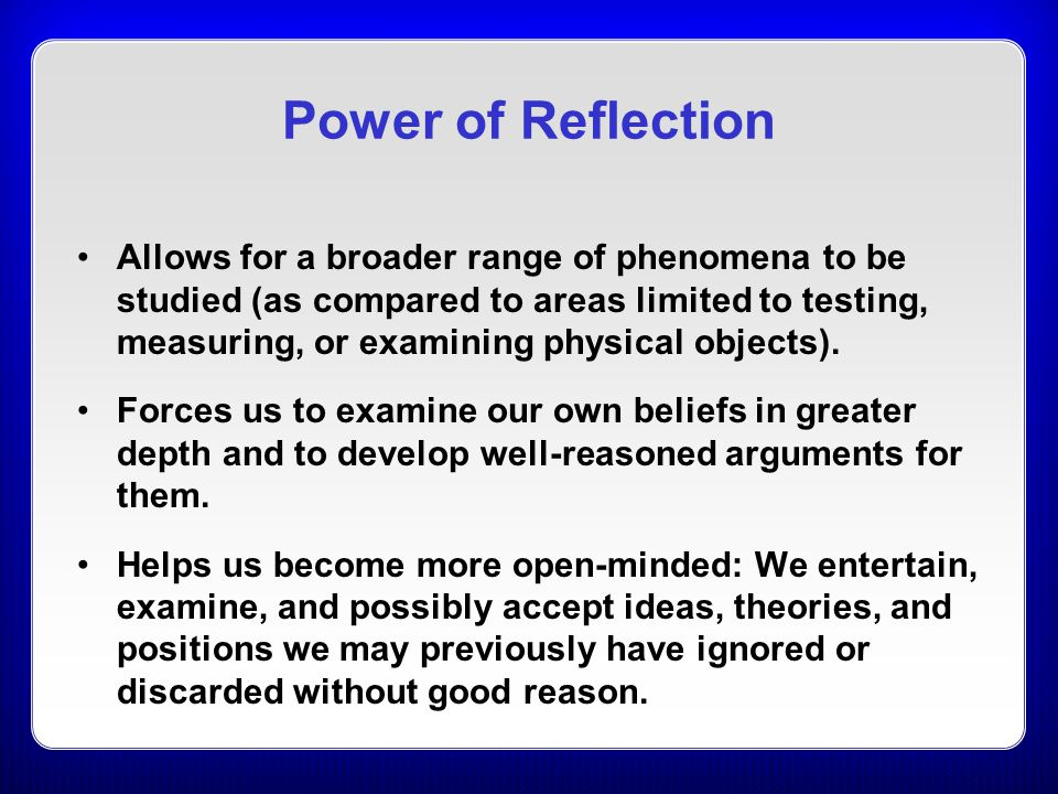 Power of Reflection