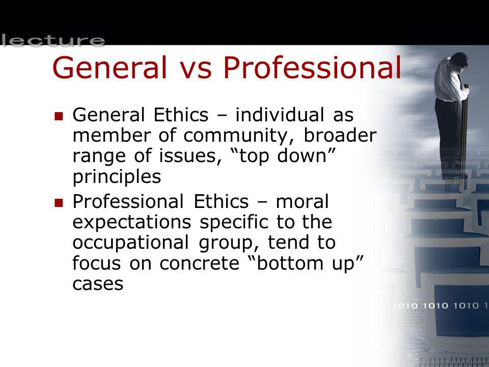 General vs Professional