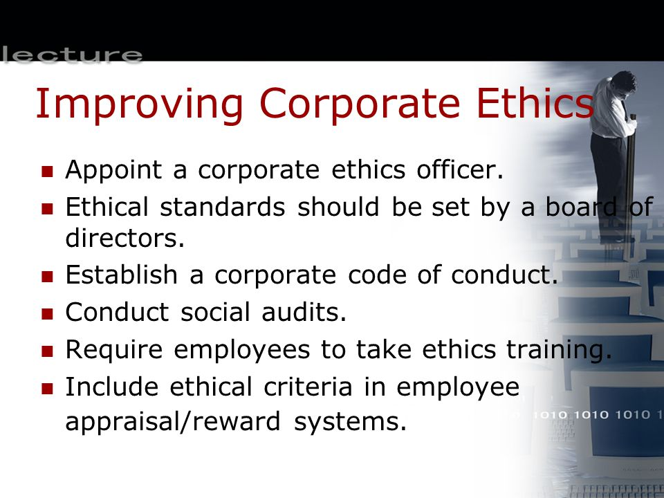 Improving Corporate Ethics