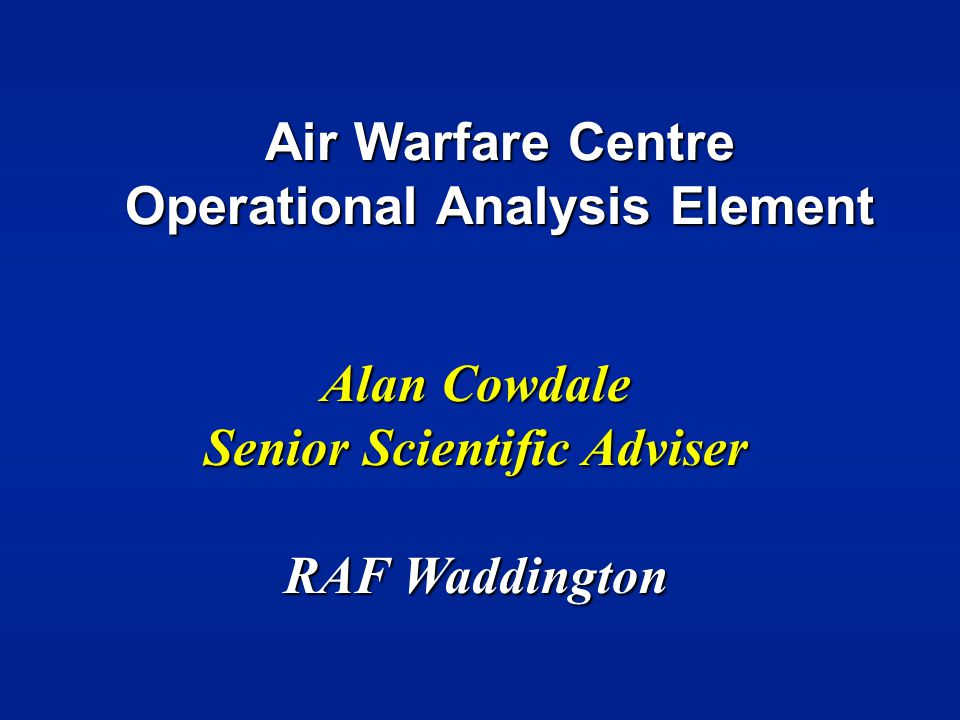 Air Warfare Centre Operational Analysis Element