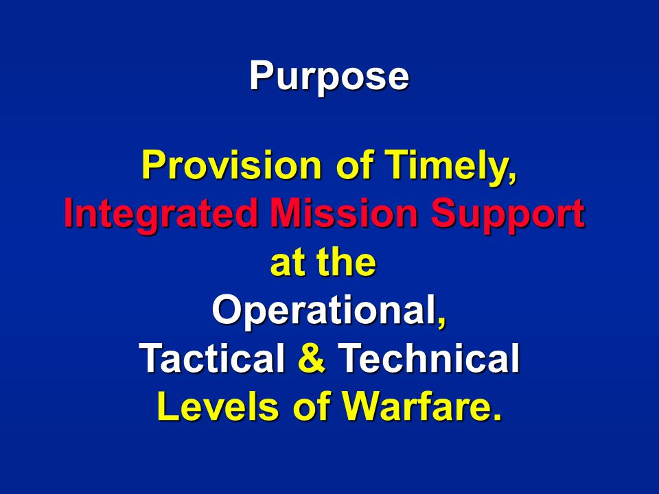 Integrated Mission Support
