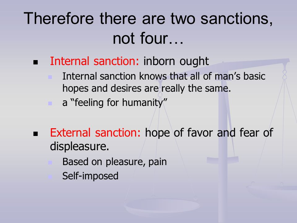 Therefore there are two sanctions, not four…