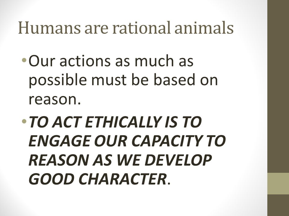 Humans are rational animals