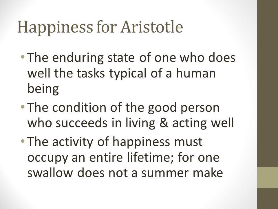 Happiness for Aristotle