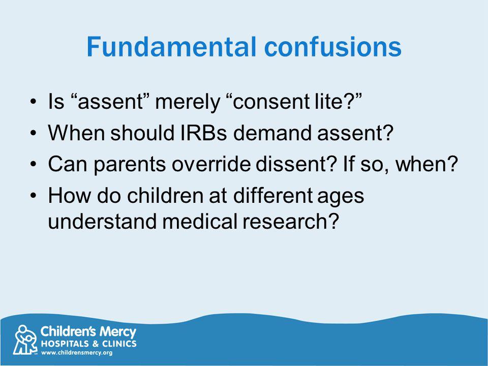 Fundamental confusions