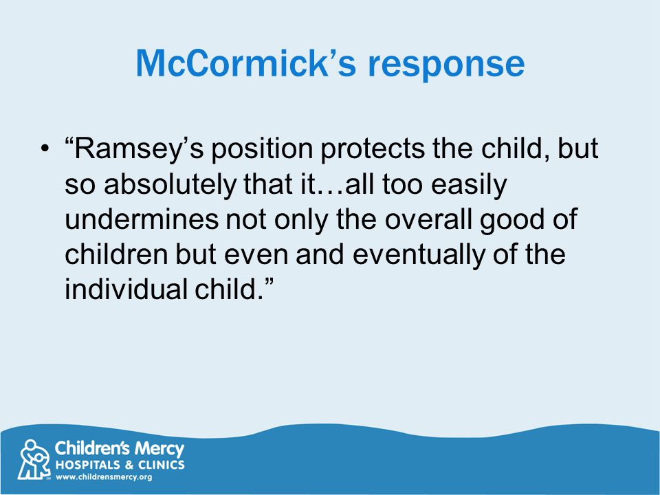 McCormick's response