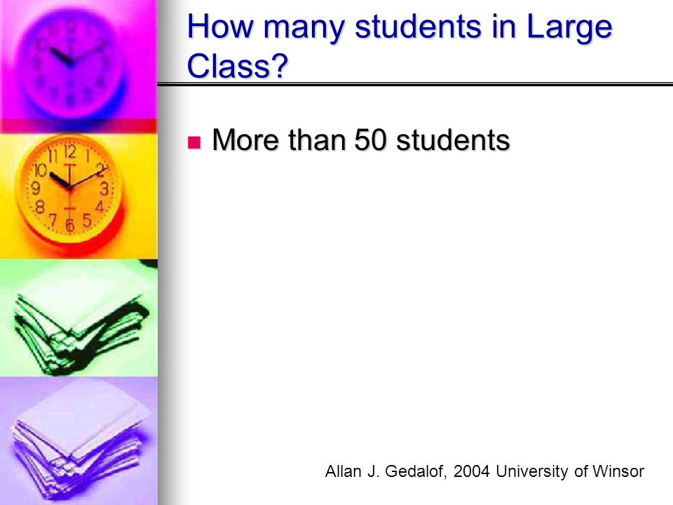 How many students in Large Class