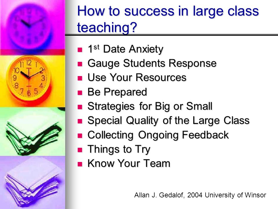 How to success in large class teaching