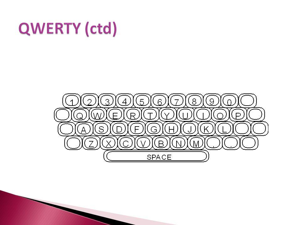 QWERTY (ctd)