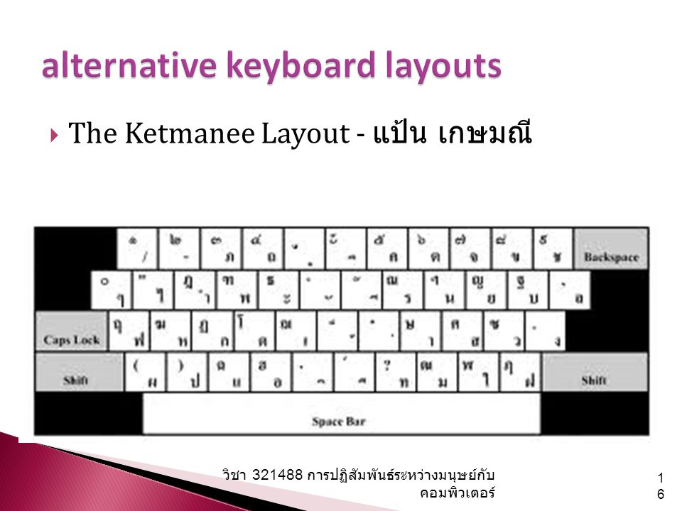 alternative keyboard layouts