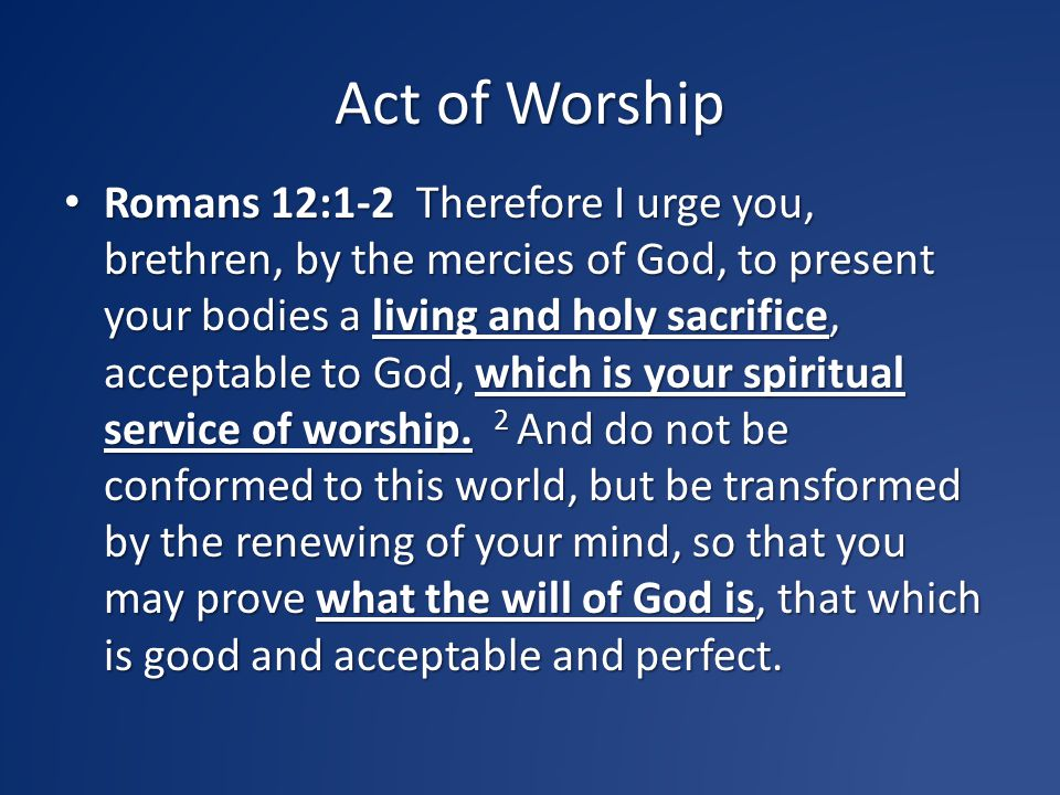 Act of Worship