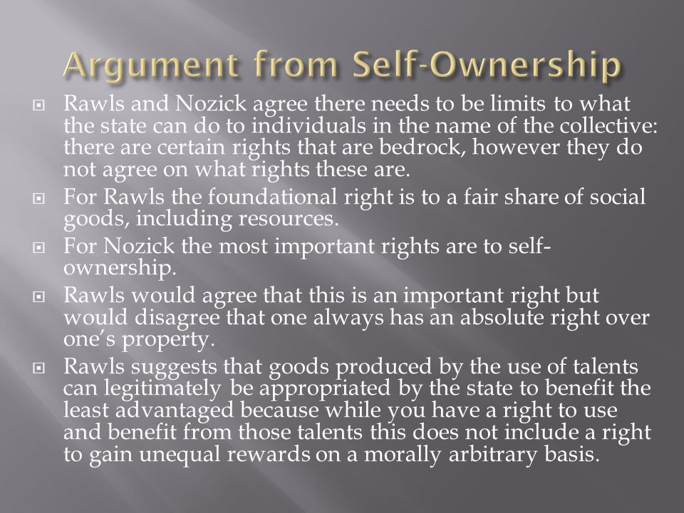 Argument from Self-Ownership