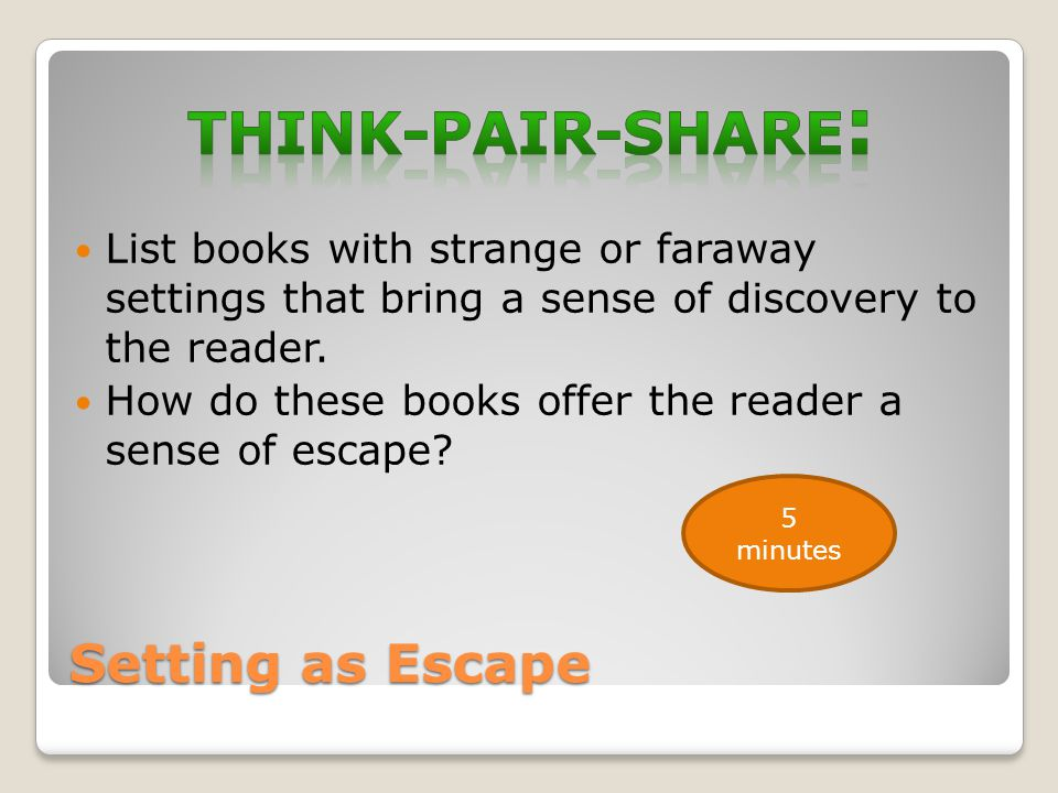Think-Pair-Share: Setting as Escape