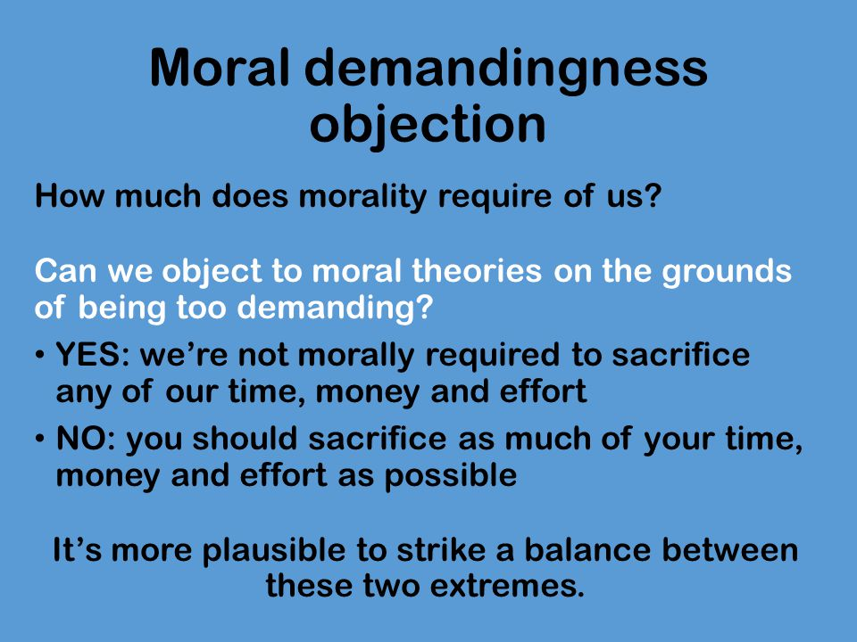Moral demandingness objection