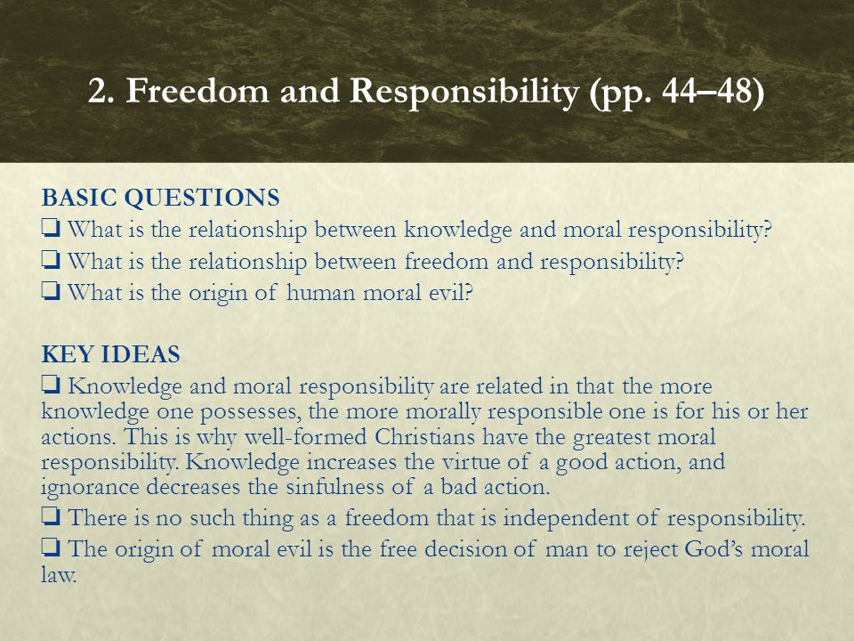 2. Freedom and Responsibility (pp. 44–48)