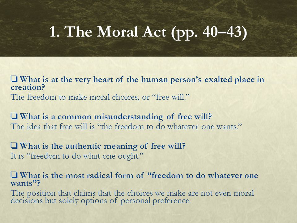 1. The Moral Act (pp. 40–43)