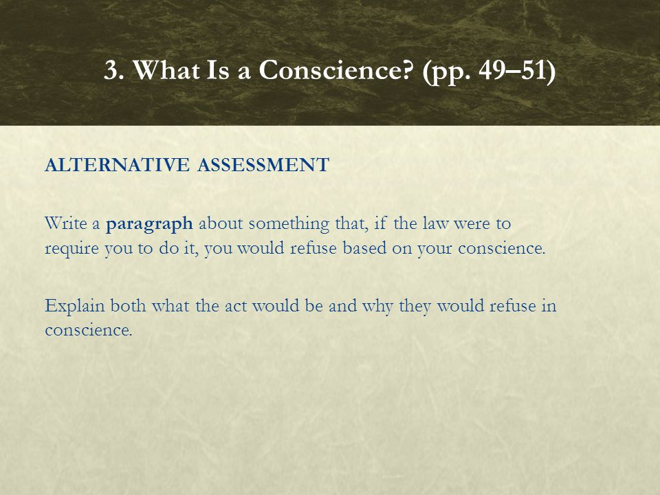 3. What Is a Conscience (pp. 49–51)