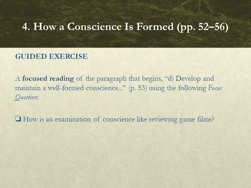 4. How a Conscience Is Formed (pp. 52–56)