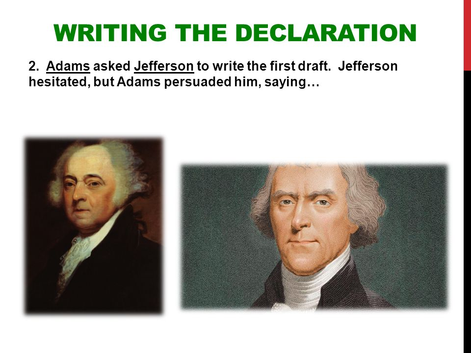 Writing the Declaration